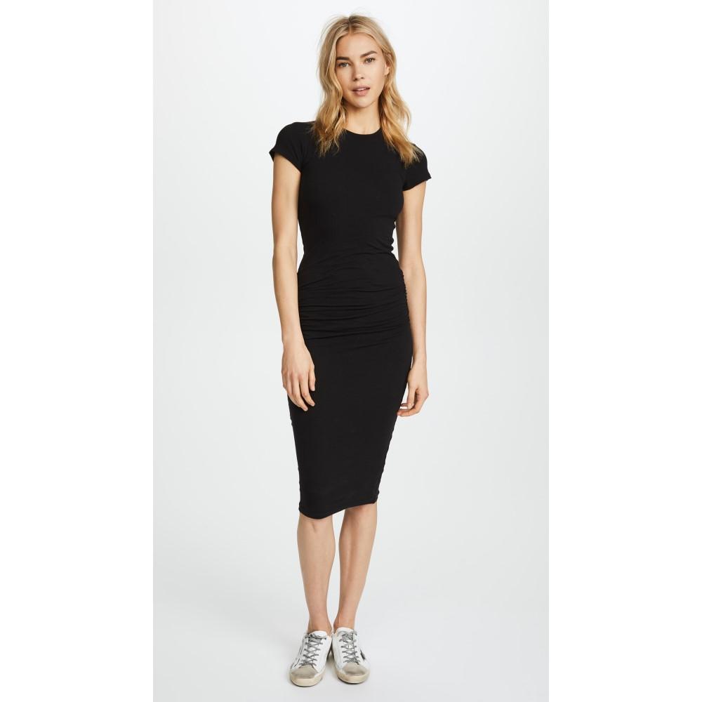 ジェームス パース レディース ワンピース・ドレス ワンピース【Classic Short Sleeve Skinny Dress】Black