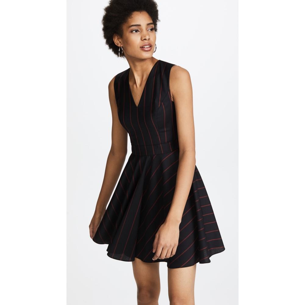 ヴェルサーチ レディース ワンピース・ドレス ワンピース【Woven Pinstripe Dress】Nero/Rosso