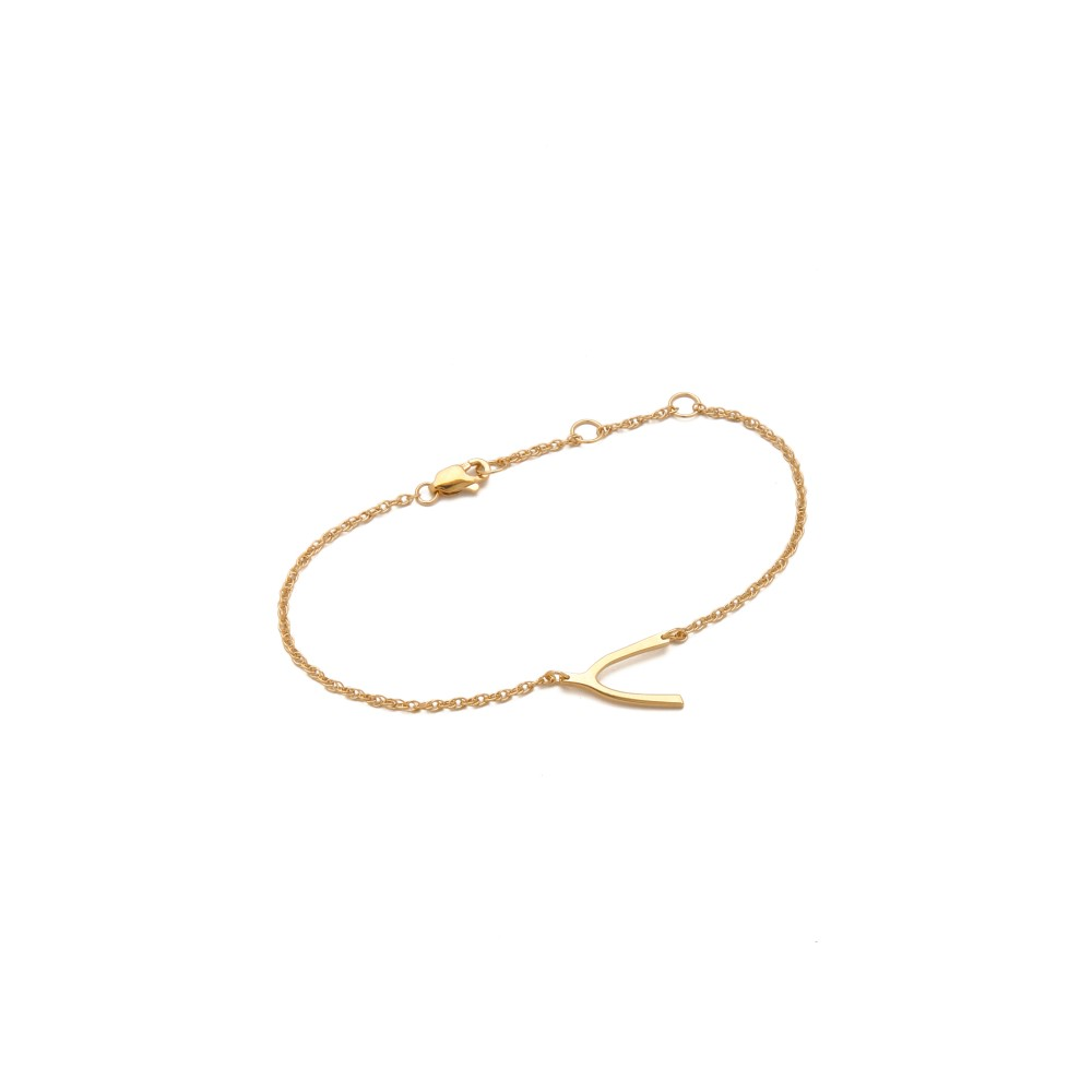 ジェニファーズーナー レディース ジュエリー・アクセサリー ブレスレット【Mini Wishbone Bracelet】Gold