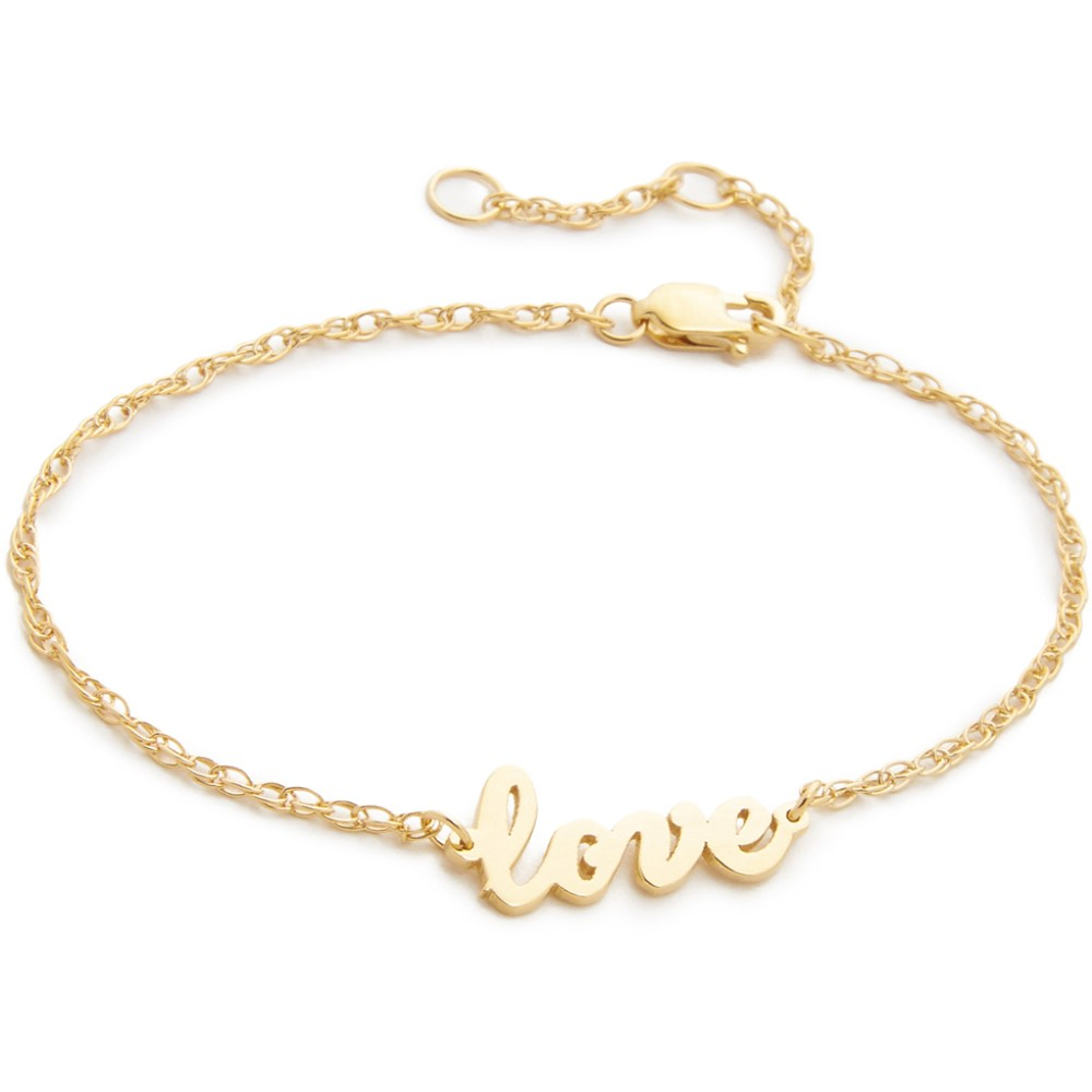 ジェニファーズーナー レディース ジュエリー・アクセサリー ブレスレット【Cursive LOVE Bracelet】Gold