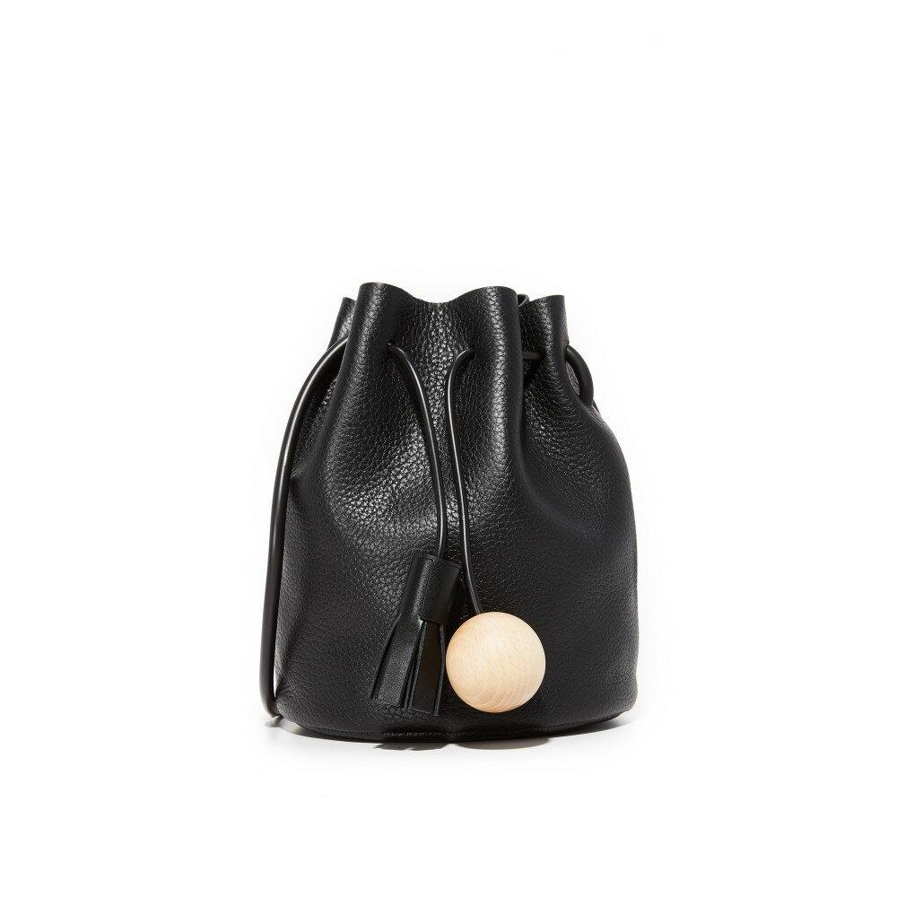 ビルディング ブロック レディース バッグ ショルダーバッグ【Pebbled Mini Bucket Bag】Black