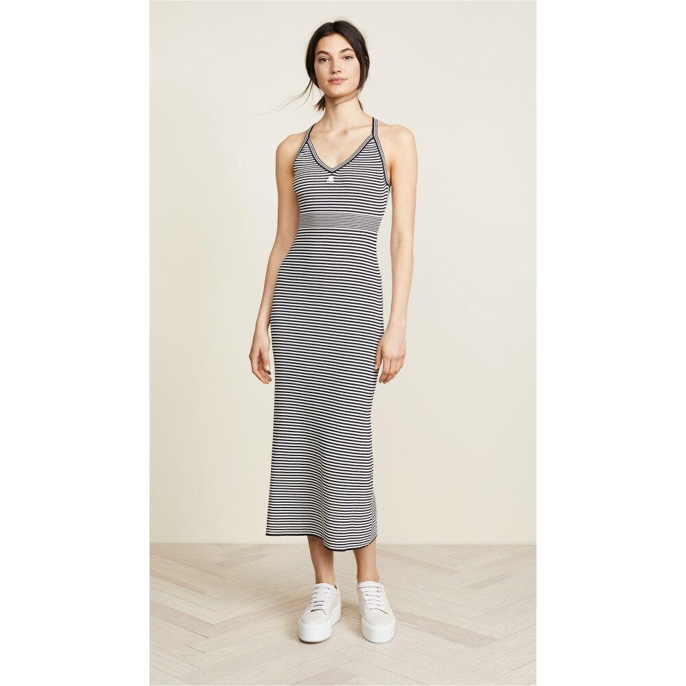 クレージュ レディース ワンピース・ドレス ワンピース【Long Striped Metallic Dress】Navy/Ivory