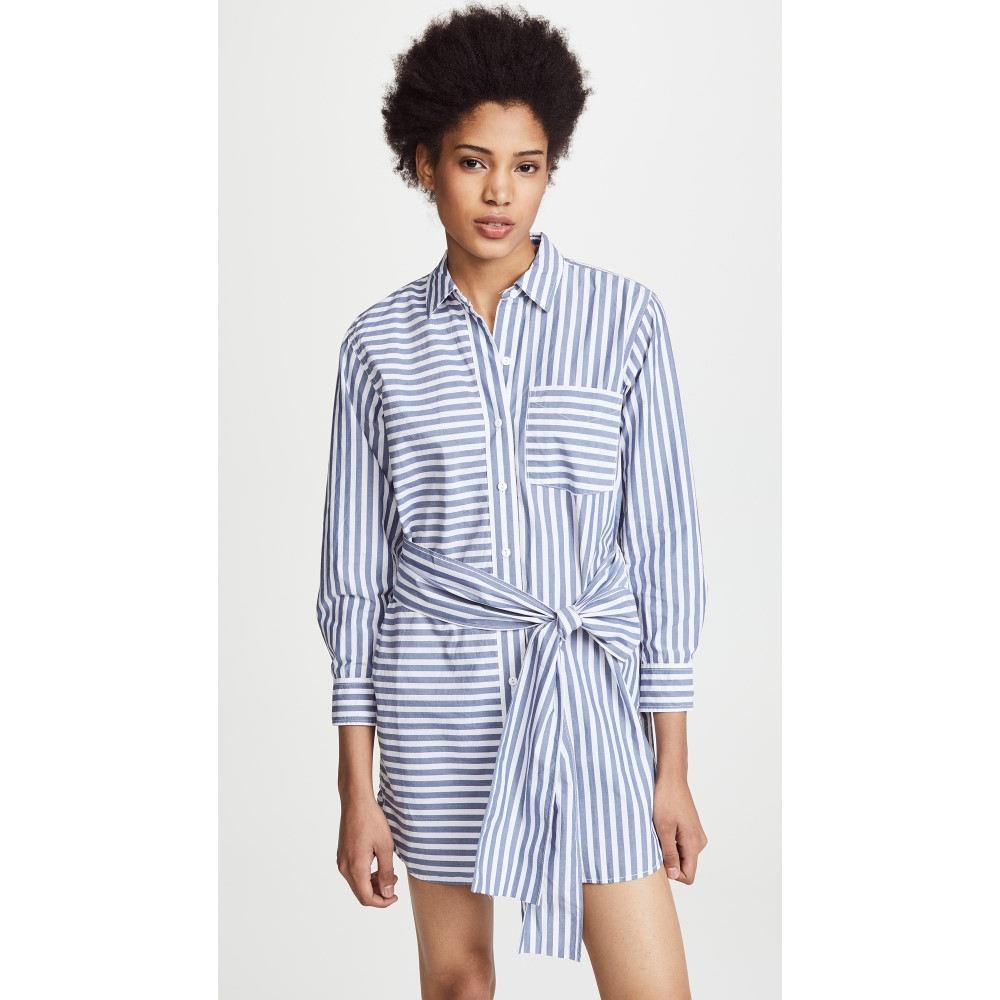 カレント エリオット レディース ワンピース・ドレス ワンピース【The Alda Stripe Shirt Dress】Blue Lagoon Stripe