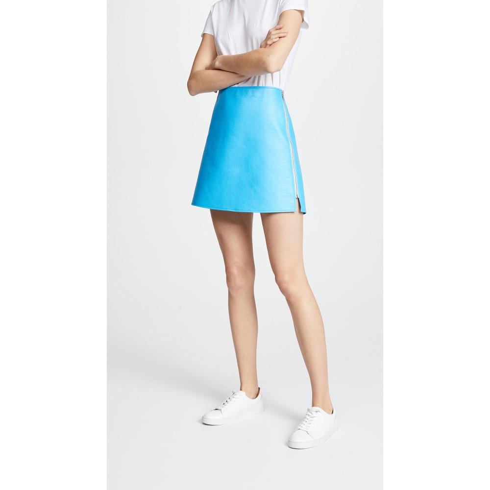 クレージュ レディース スカート ミニスカート【Side Zip Vinyl Miniskirt】Ocean Blue