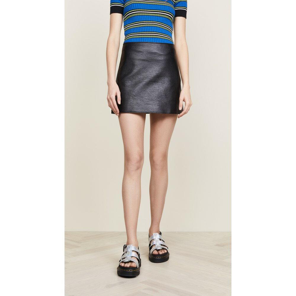 クレージュ レディース スカート ミニスカート【Back Logo Vinyl Miniskirt】Black