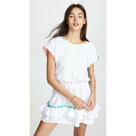 ペイショット レディース 水着・ビーチウェア ビーチウェア【Nissi Pom Pom Dress】White Multi