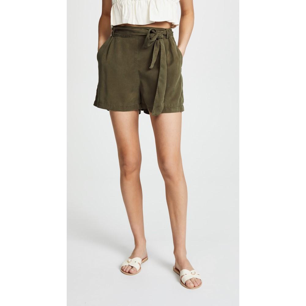 スリードッツ レディース ボトムス・パンツ ショートパンツ【Twill Shorts】Olive Branch