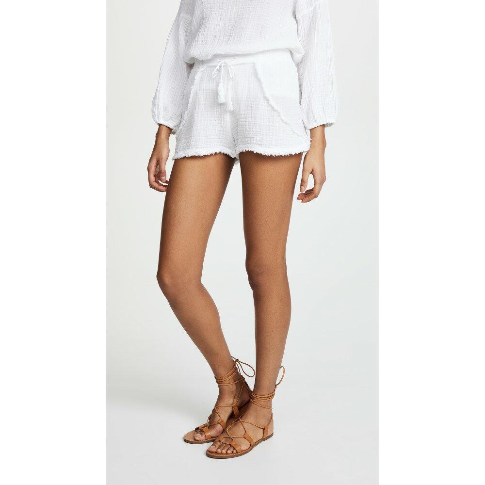 スリードッツ レディース ボトムス・パンツ ショートパンツ【Double Gauze Shorts】White