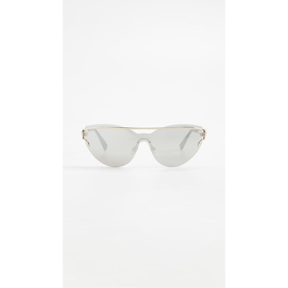 ヴェルサーチ レディース メガネ・サングラス【Manifesto Mirrored Sunglasses】Pale Gold/Silver