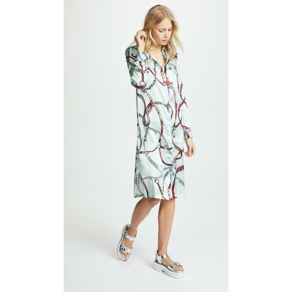 ヴェルサーチ レディース ワンピース・ドレス ワンピース【Printed Collared Dress】Mint