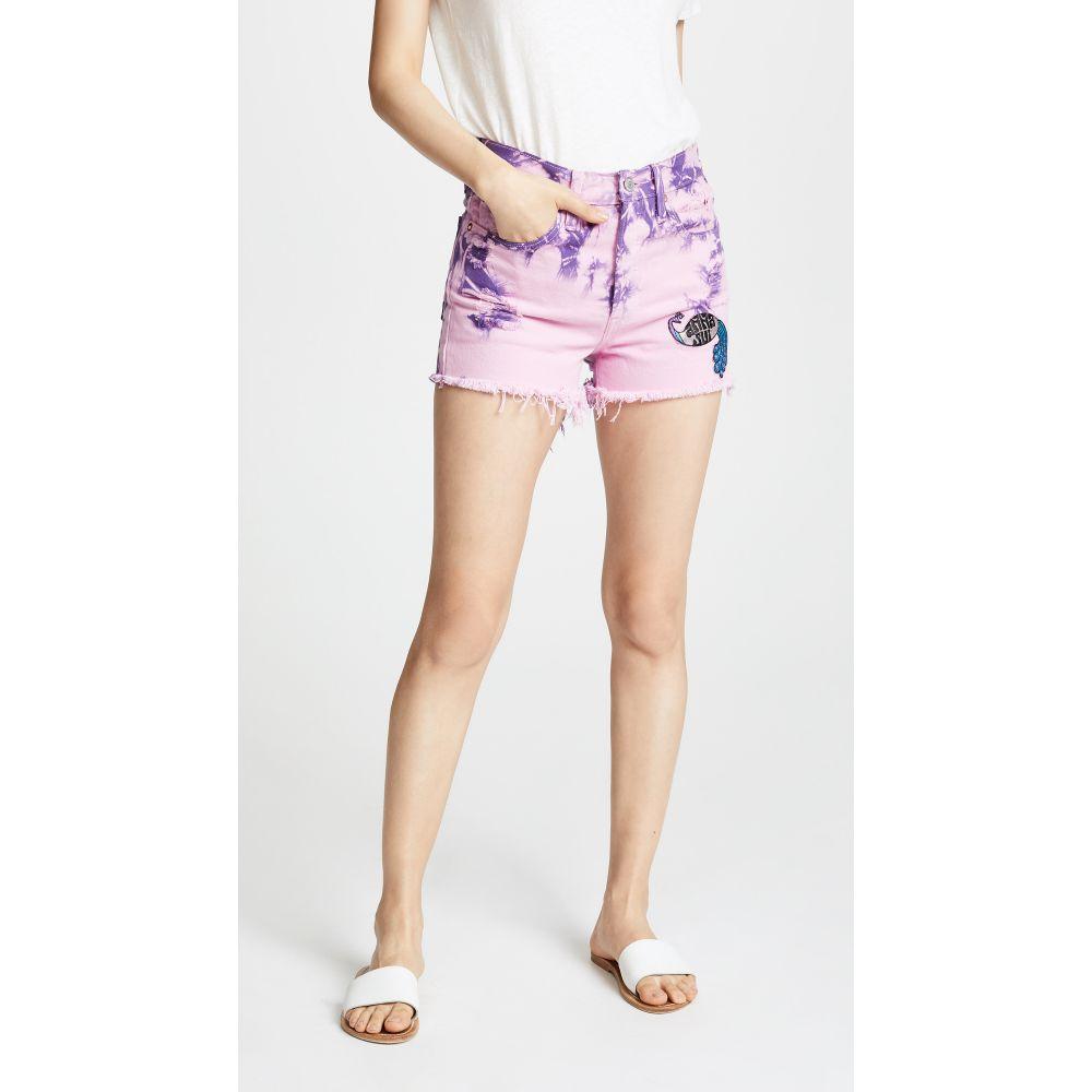 アナスイ レディース ボトムス・パンツ ショートパンツ【Levi's x Anna Sui Tie Dye Peacock Patch Shorts】Pink Multi