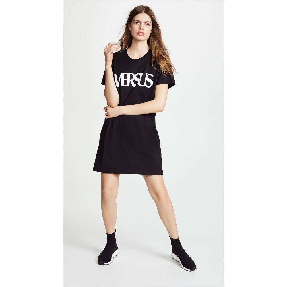 ヴェルサーチ レディース ワンピース・ドレス ワンピース【Versus Logo T-shirt Dress】Black