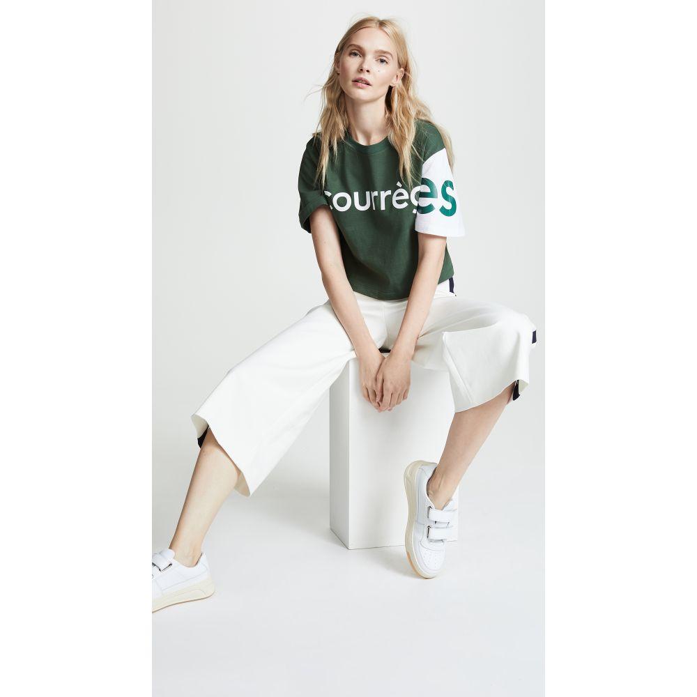 クレージュ レディース トップス Tシャツ【Logo T-shirt】Green/White