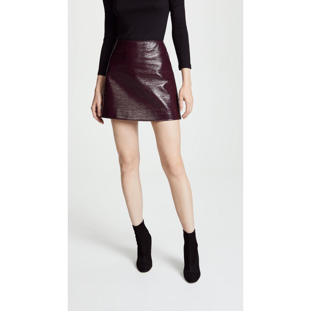 クレージュ レディース スカート ミニスカート【Vinyl Mini Skirt】Burgundy