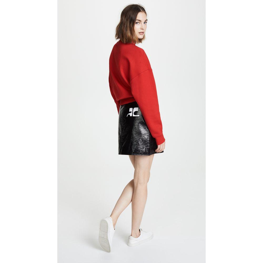 クレージュ レディース スカート ミニスカート【Vinyl Mini Skirt】Black