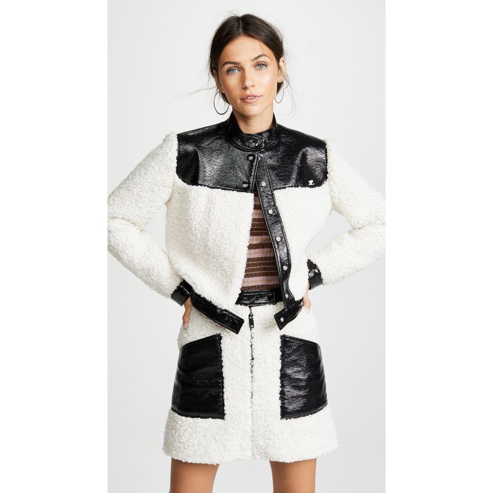 クレージュ Courreges レディース アウター ジャケット【Sherpa Cropped Jacket】Black/White