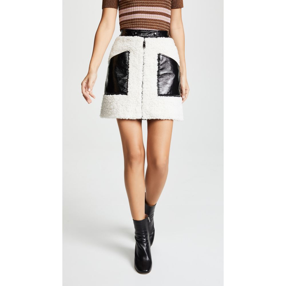 クレージュ Courreges レディース スカート ミニスカート【Sherpa Miniskirt】Black/White