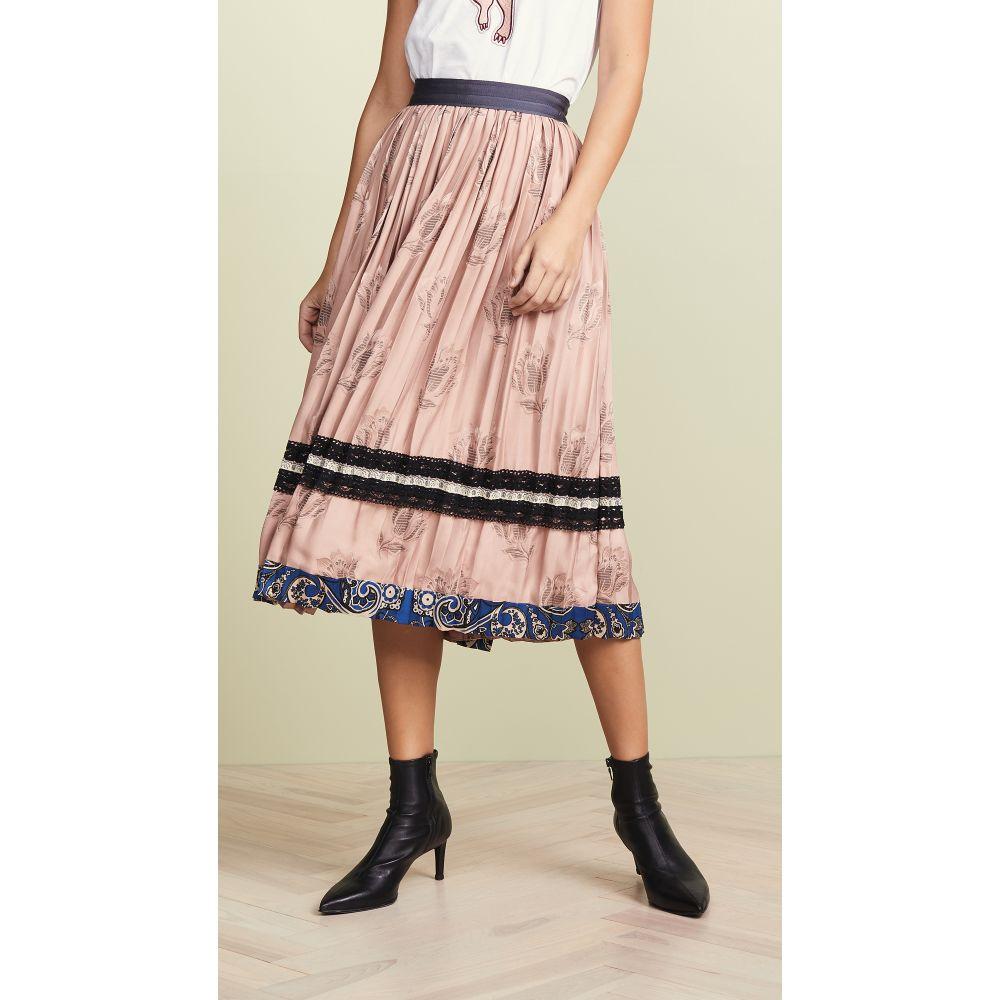 コーチ Coach 1941 レディース スカート【Tulip Print Pleated Skirt】Nude Pink