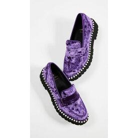 シューコンマボニー Suecomma Bonnie レディース シューズ・靴 ローファー・オックスフォード【Velvet Loafers with Imitation Pearls】Purple