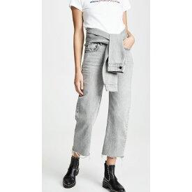 アレキサンダー ワン Denim x Alexander Wang レディース ボトムス・パンツ ジーンズ・デニム【Stack Crop Tie Jeans】Light Grey