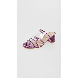 マリアム ナッシアー ザデー Maryam Nassir Zadeh レディース シューズ・靴 サンダル・ミュール【Martina Plastic Slides】Violet Marble