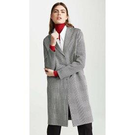 ハリスワーフロンドン Harris Wharf London レディース アウター コート【Prices Of Wales Overcoat】Black/White