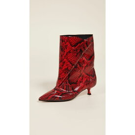 エムエスジーエム MSGM レディース シューズ・靴 ブーツ【Fold Boots】Red Python