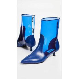 エムエスジーエム MSGM レディース シューズ・靴 ブーツ【Pointy Ankle Booties】Blue