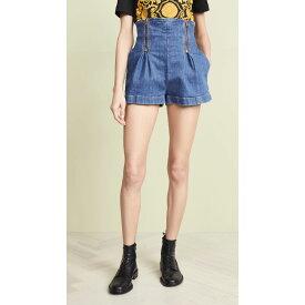 ヴェルサーチ Versace レディース ボトムス・パンツ ショートパンツ【Denim Shorts】Blue
