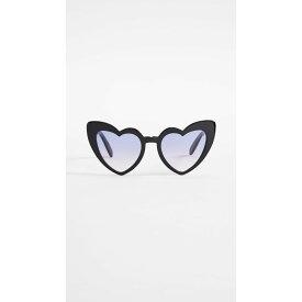 イヴ サンローラン Saint Laurent レディース メガネ・サングラス【Lou Lou Sunglasses】Shiny Black/Violet Gradient