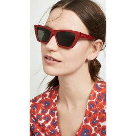 イヴ サンローラン Saint Laurent レディース メガネ・サングラス【Narrow Cat Eye Sunglasses】Red/Grey