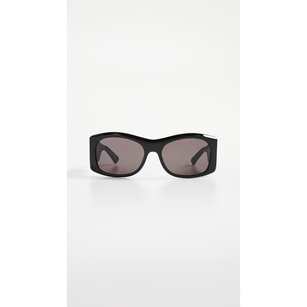 バレンシアガ Balenciaga レディース メガネ・サングラス【Cover Soft Sunglasses】Black with Grey Solid Lens