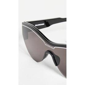 バレンシアガ Balenciaga レディース メガネ・サングラス【Ski Soft Sunglasses】Black with Solid Grey Lens