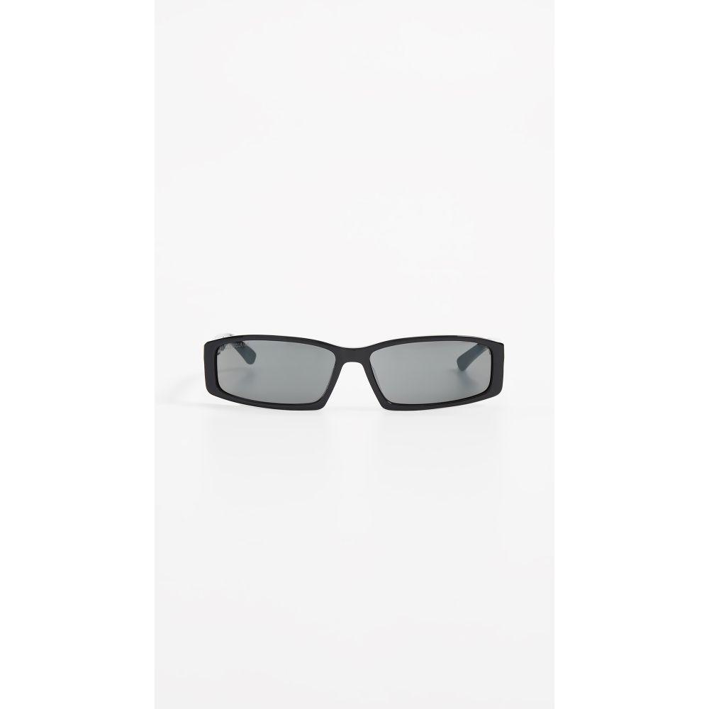 バレンシアガ Balenciaga レディース メガネ・サングラス【Neo Straight Sunglasses】Black with Solid Grey Lens
