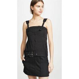 プロエンザ スクーラー Proenza Schouler PSWL レディース ワンピース・ドレス ワンピース【Sleeveless Belted Utility Cotton Twill Dress】Black