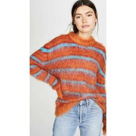 マルニ Marni レディース トップス ニット・セーター【Striped Mohair Sweater】Carrot