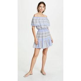 レムレム Lemlem レディース 水着・ビーチウェア ビーチウェア【Amira Off Shoulder Ruffle Dress】Blue