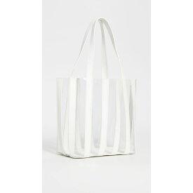 ロフラーランドール Loeffler Randall レディース バッグ トートバッグ【Marlena Pieced Tote Bag】White/Clear