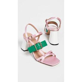 マルニ Marni レディース サンダル・ミュール シューズ・靴【High Heel Sandals】Light Pink/Forest Green