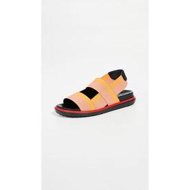 マルニ Marni レディース サンダル・ミュール シューズ・靴【Fussbett Two Band Slingback Sandals】Coral/Gold