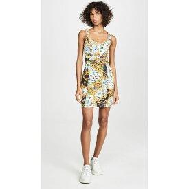 ヴェルサーチ Versace Jeans Couture レディース ワンピース デニム ワンピース・ドレス【Denim Printed Dress】Menta