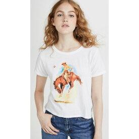 リーバイス Levi's レディース Tシャツ トップス【Graphic Ringer Surf Tee】Horse White