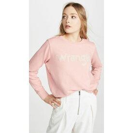 ラングラー Wrangler レディース スウェット・トレーナー トップス【logo sweatshirt】Bridal Rose