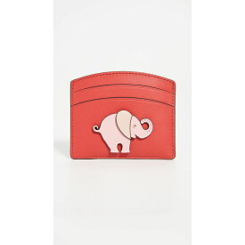 ケイト スペード Kate Spade New York レディース カードケース・名刺入れ カードホルダー【Elephant Applique Card Holder】Hot Chili