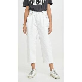 エドウィン Edwin レディース ジーンズ・デニム ワイドパンツ ボトムス・パンツ【Maiia Wide Leg Crop Jeans】White