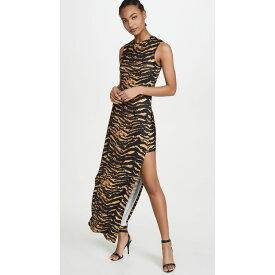 アダム セルマン Adam Selman Sport レディース ワンピース ノースリーブ スリットワンピース ワンピース・ドレス【Sleeveless Slit Dress】Tiger