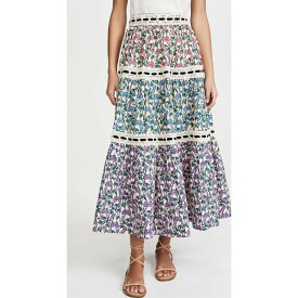 マーク ジェイコブス Runway Marc Jacobs レディース スカート ティアードスカート【Tiered Prairie Skirt With Lace Trim】Multi