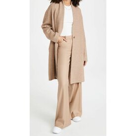 ヴィンス Vince レディース コート アウター【Collarless Cardigan Coat】Heather Camel