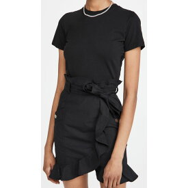 デレク ラム Derek Lam 10 Crosby レディース ワンピース ワンピース・ドレス【Hudson Mixed Media T-Shirt Dress】Black