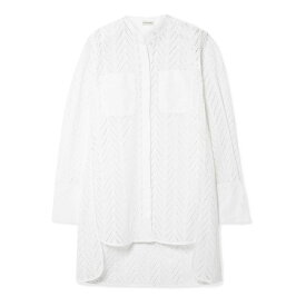 バイ マレーネ ビルガー By Malene Birger レディース トップス チュニック【Moa asymmetric oversized broderie anglaise cotton tunic】